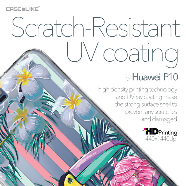 Huawei P10 case Tropical Floral 2240 with UV-Coating Scratch-Resistant Case | CASEiLIKE.com
