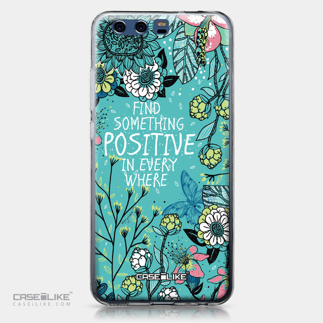 Huawei P10 case Blooming Flowers Turquoise 2249 | CASEiLIKE.com
