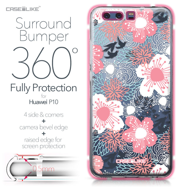 Huawei P10 case Japanese Floral 2255 Bumper Case Protection | CASEiLIKE.com