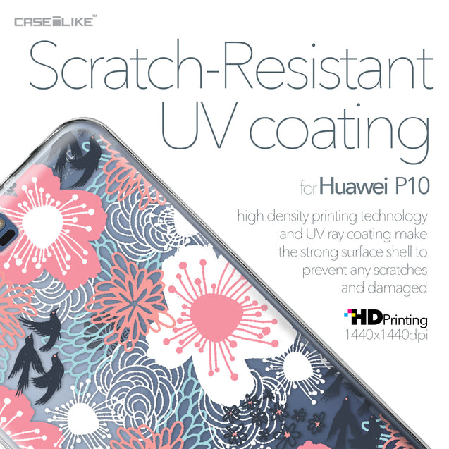 Huawei P10 case Japanese Floral 2255 with UV-Coating Scratch-Resistant Case | CASEiLIKE.com
