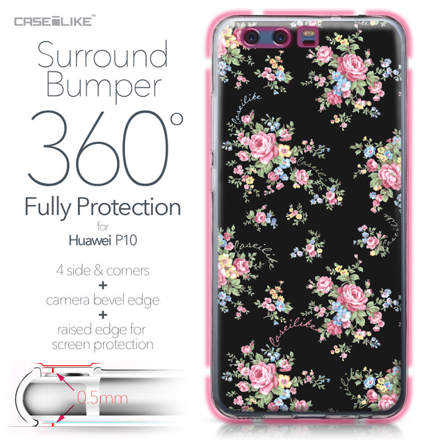 Huawei P10 case Floral Rose Classic 2261 Bumper Case Protection | CASEiLIKE.com