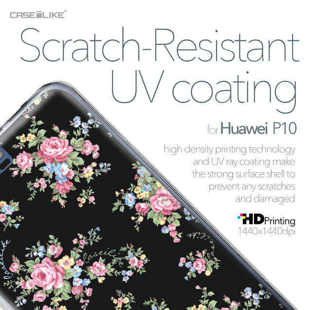 Huawei P10 case Floral Rose Classic 2261 with UV-Coating Scratch-Resistant Case | CASEiLIKE.com