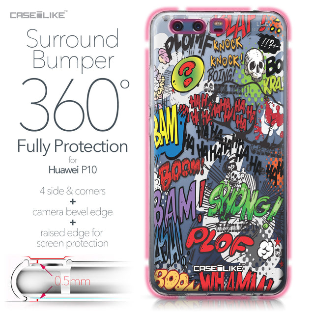 Huawei P10 case Comic Captions 2914 Bumper Case Protection | CASEiLIKE.com