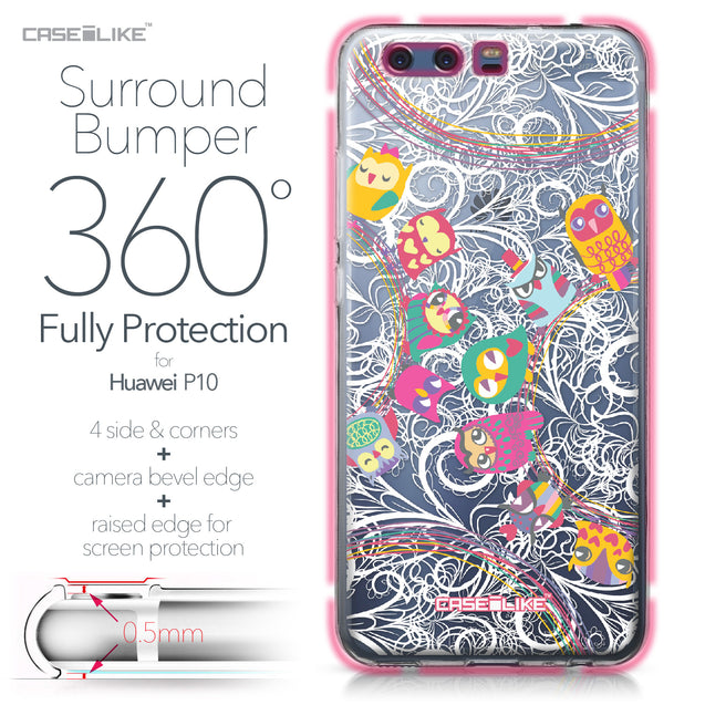 Huawei P10 case Owl Graphic Design 3316 Bumper Case Protection | CASEiLIKE.com