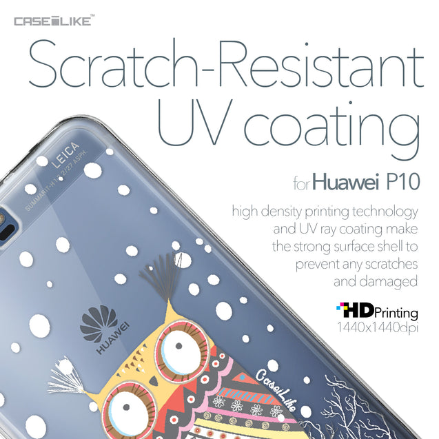 Huawei P10 case Owl Graphic Design 3317 with UV-Coating Scratch-Resistant Case | CASEiLIKE.com