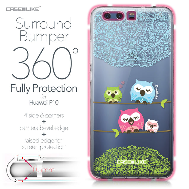 Huawei P10 case Owl Graphic Design 3318 Bumper Case Protection | CASEiLIKE.com
