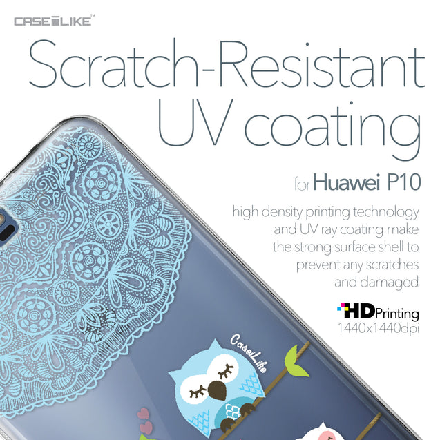 Huawei P10 case Owl Graphic Design 3318 with UV-Coating Scratch-Resistant Case | CASEiLIKE.com