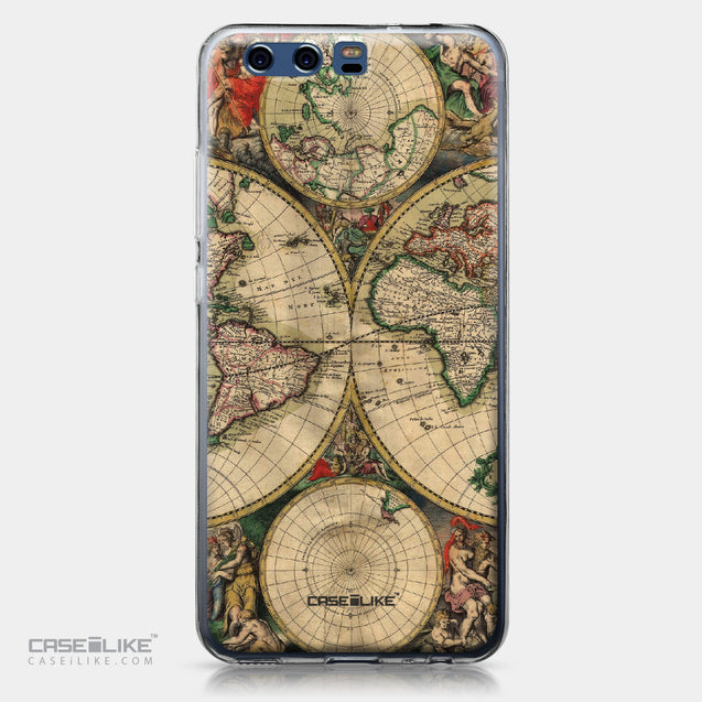 Huawei P10 case World Map Vintage 4607 | CASEiLIKE.com