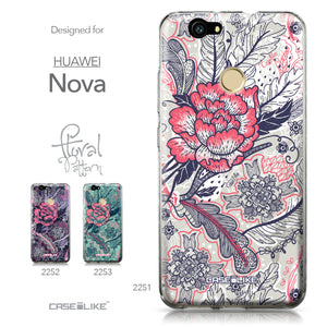 Huawei Nova case Vintage Roses and Feathers Beige 2251 Collection | CASEiLIKE.com