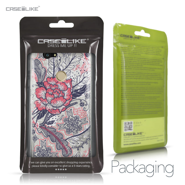 Huawei Nova case Vintage Roses and Feathers Beige 2251 Retail Packaging | CASEiLIKE.com