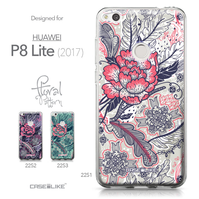 Huawei P8 Lite 2017 / P9 Lite 2017 / Honor 8 Lite / Nova Lite / GR3 2017 case Vintage Roses and Feathers Beige 2251 Collection | CASEiLIKE.com