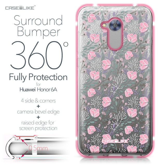 Huawei Honor 6A case Flowers Herbs 2246 Bumper Case Protection | CASEiLIKE.com
