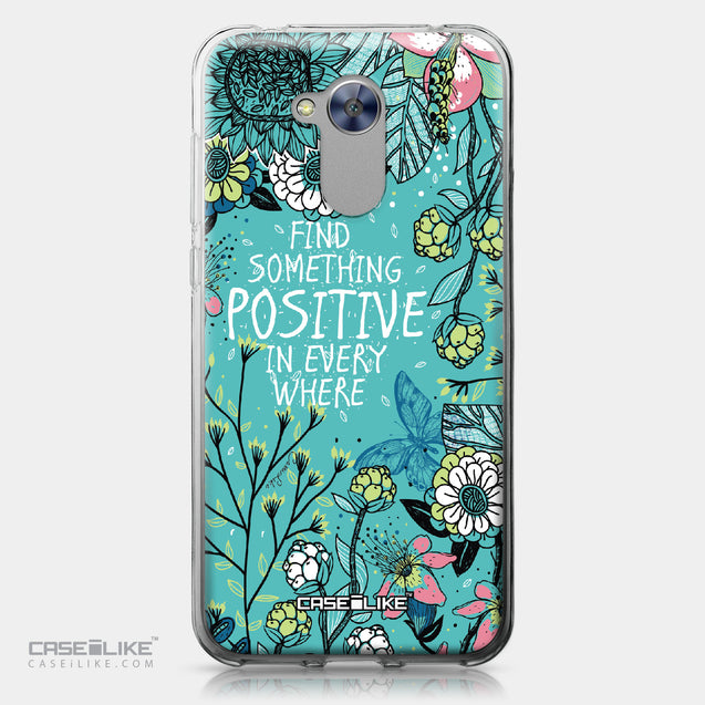 Huawei Honor 6A case Blooming Flowers Turquoise 2249 | CASEiLIKE.com