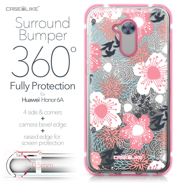 Huawei Honor 6A case Japanese Floral 2255 Bumper Case Protection | CASEiLIKE.com