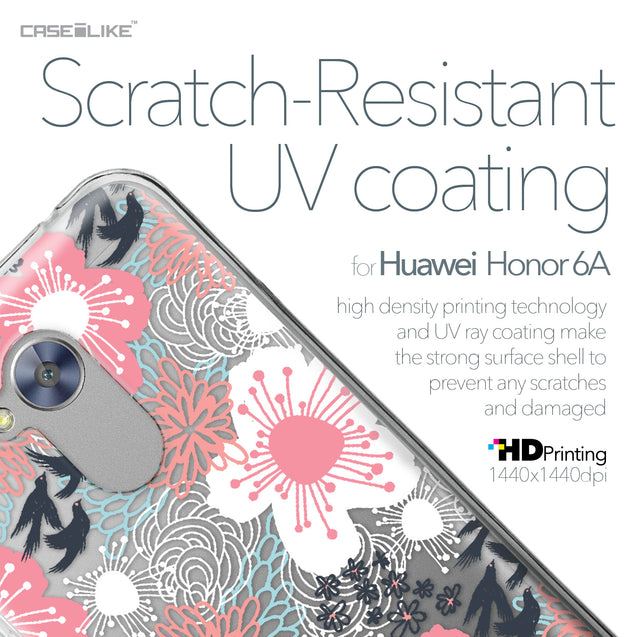 Huawei Honor 6A case Japanese Floral 2255 with UV-Coating Scratch-Resistant Case | CASEiLIKE.com