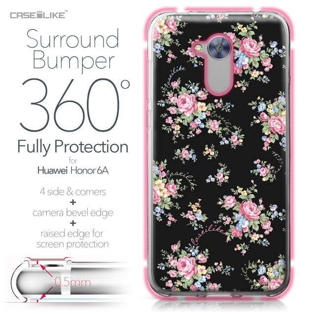 Huawei Honor 6A case Floral Rose Classic 2261 Bumper Case Protection | CASEiLIKE.com