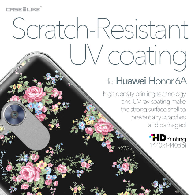 Huawei Honor 6A case Floral Rose Classic 2261 with UV-Coating Scratch-Resistant Case | CASEiLIKE.com