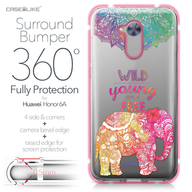 Huawei Honor 6A case Mandala Art 2302 Bumper Case Protection | CASEiLIKE.com