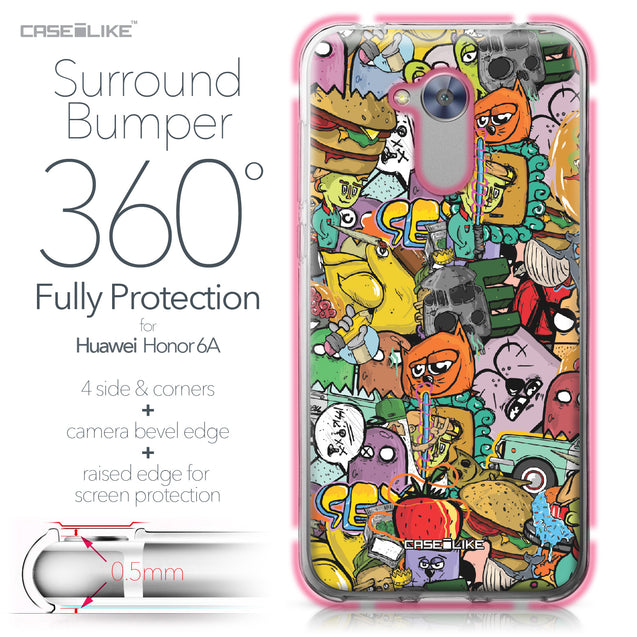 Huawei Honor 6A case Graffiti 2731 Bumper Case Protection | CASEiLIKE.com