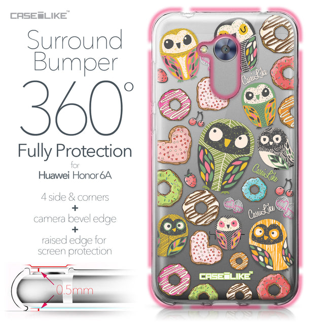 Huawei Honor 6A case Owl Graphic Design 3315 Bumper Case Protection | CASEiLIKE.com