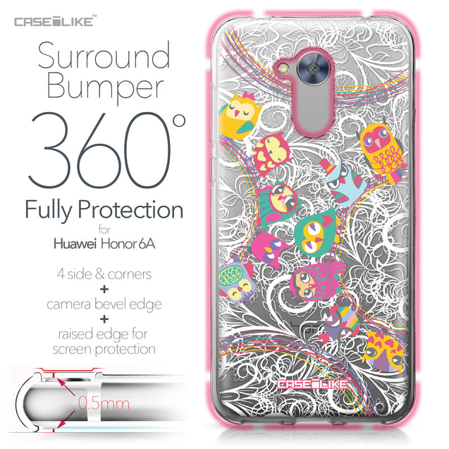 Huawei Honor 6A case Owl Graphic Design 3316 Bumper Case Protection | CASEiLIKE.com