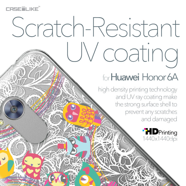 Huawei Honor 6A case Owl Graphic Design 3316 with UV-Coating Scratch-Resistant Case | CASEiLIKE.com