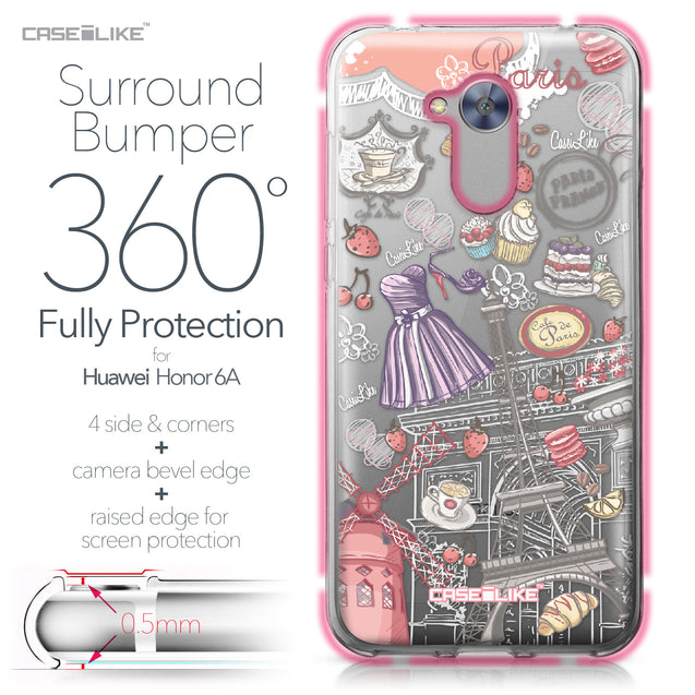 Huawei Honor 6A case Paris Holiday 3907 Bumper Case Protection | CASEiLIKE.com