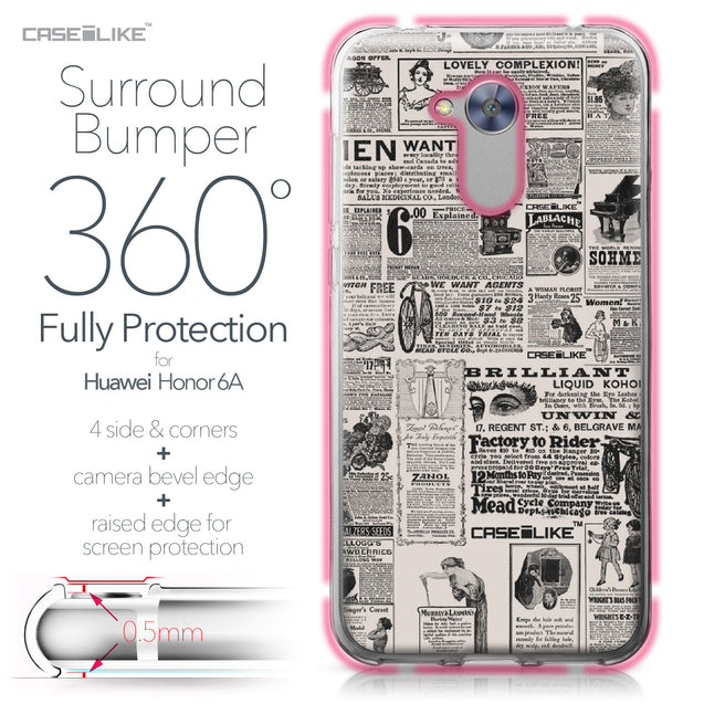 Huawei Honor 6A case Vintage Newspaper Advertising 4818 Bumper Case Protection | CASEiLIKE.com
