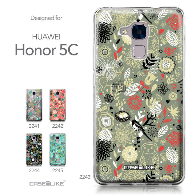 Huawei Honor 5C / Honor 7 Lite / GT3 case Spring Forest Gray 2243 Collection | CASEiLIKE.com