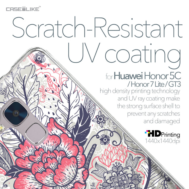 Huawei Honor 5C / Honor 7 Lite / GT3 case Vintage Roses and Feathers Beige 2251 with UV-Coating Scratch-Resistant Case | CASEiLIKE.com