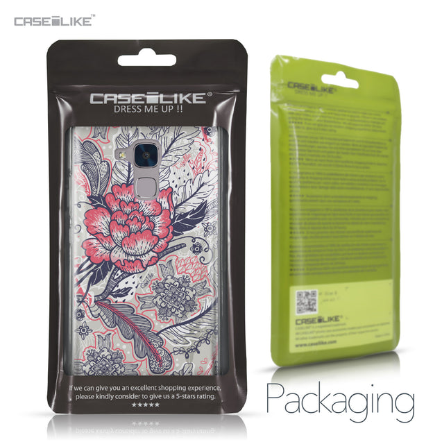 Huawei Honor 5C / Honor 7 Lite / GT3 case Vintage Roses and Feathers Beige 2251 Retail Packaging | CASEiLIKE.com