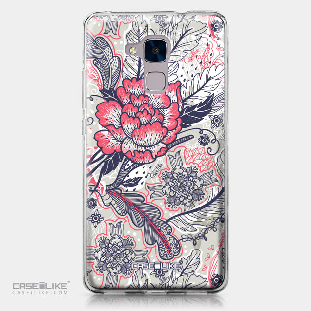 Huawei Honor 5C / Honor 7 Lite / GT3 case Vintage Roses and Feathers Beige 2251 | CASEiLIKE.com