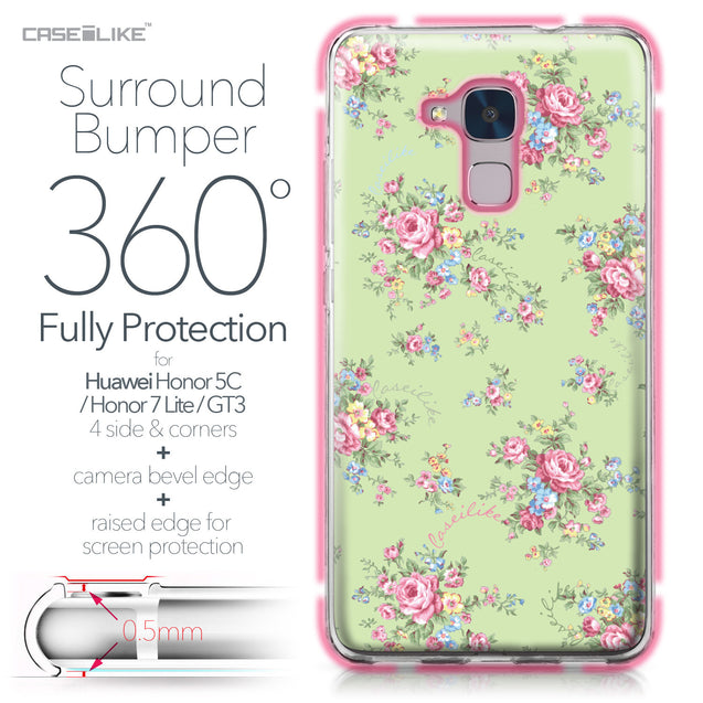 Huawei Honor 5C / Honor 7 Lite / GT3 case Floral Rose Classic 2262 Bumper Case Protection | CASEiLIKE.com