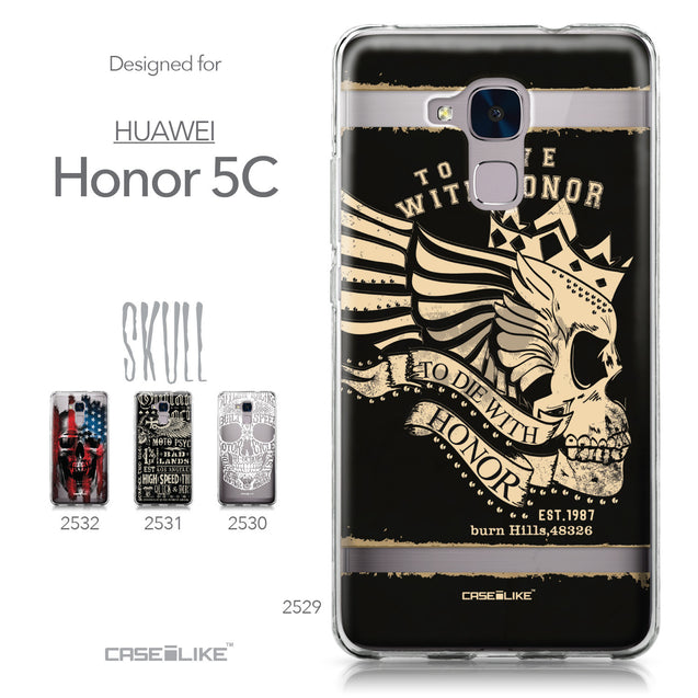 Huawei Honor 5C / Honor 7 Lite / GT3 case Art of Skull 2529 Collection | CASEiLIKE.com