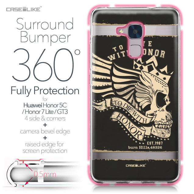 Huawei Honor 5C / Honor 7 Lite / GT3 case Art of Skull 2529 Bumper Case Protection | CASEiLIKE.com