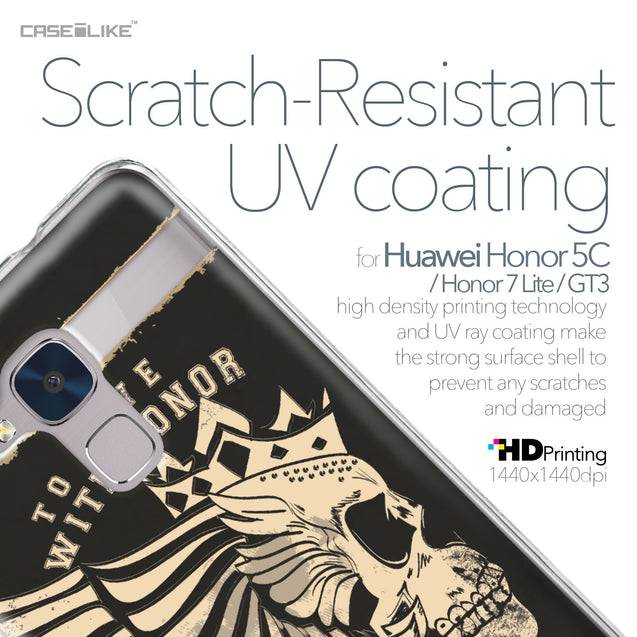 Huawei Honor 5C / Honor 7 Lite / GT3 case Art of Skull 2529 with UV-Coating Scratch-Resistant Case | CASEiLIKE.com
