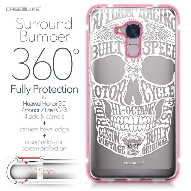 Huawei Honor 5C / Honor 7 Lite / GT3 case Art of Skull 2530 Bumper Case Protection | CASEiLIKE.com