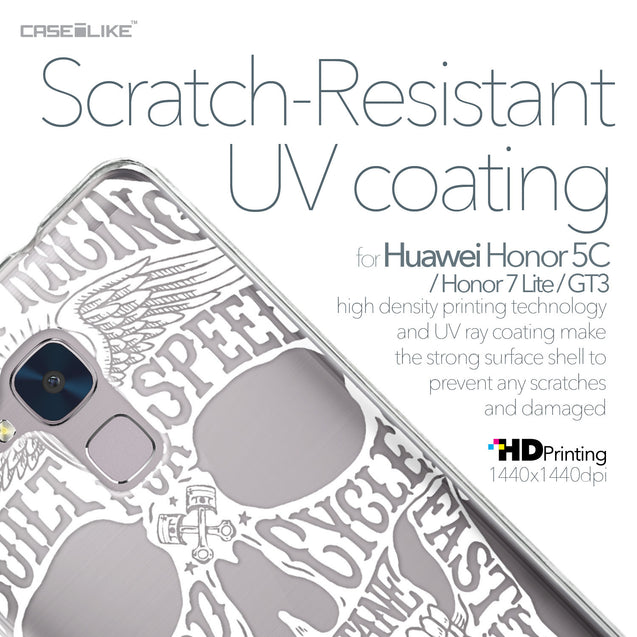 Huawei Honor 5C / Honor 7 Lite / GT3 case Art of Skull 2530 with UV-Coating Scratch-Resistant Case | CASEiLIKE.com