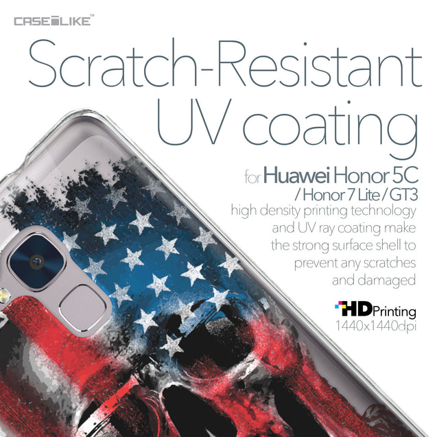 Huawei Honor 5C / Honor 7 Lite / GT3 case Art of Skull 2532 with UV-Coating Scratch-Resistant Case | CASEiLIKE.com