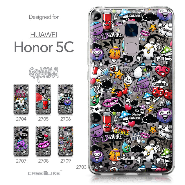 Huawei Honor 5C / Honor 7 Lite / GT3 case Graffiti 2703 Collection | CASEiLIKE.com