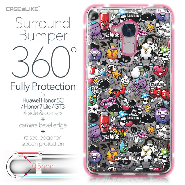 Huawei Honor 5C / Honor 7 Lite / GT3 case Graffiti 2703 Bumper Case Protection | CASEiLIKE.com