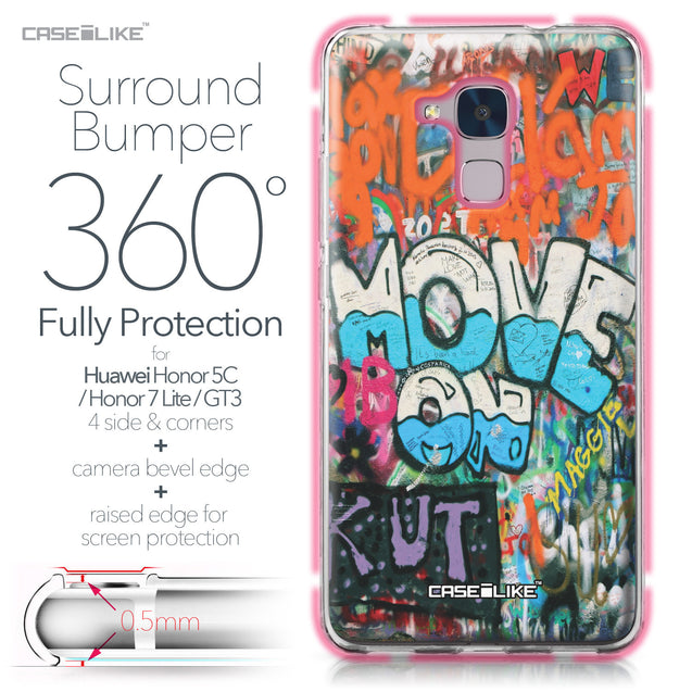 Huawei Honor 5C / Honor 7 Lite / GT3 case Graffiti 2722 Bumper Case Protection | CASEiLIKE.com