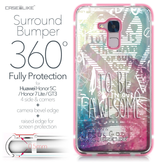 Huawei Honor 5C / Honor 7 Lite / GT3 case Graffiti 2726 Bumper Case Protection | CASEiLIKE.com