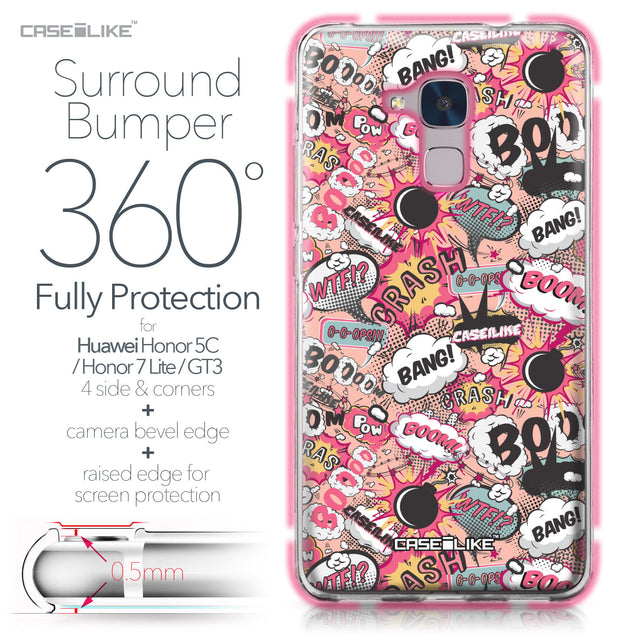 Huawei Honor 5C / Honor 7 Lite / GT3 case Comic Captions Pink 2912 Bumper Case Protection | CASEiLIKE.com
