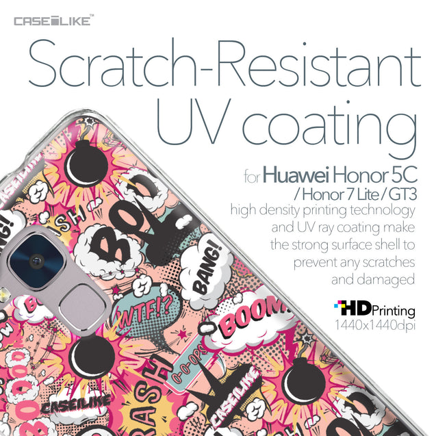 Huawei Honor 5C / Honor 7 Lite / GT3 case Comic Captions Pink 2912 with UV-Coating Scratch-Resistant Case | CASEiLIKE.com