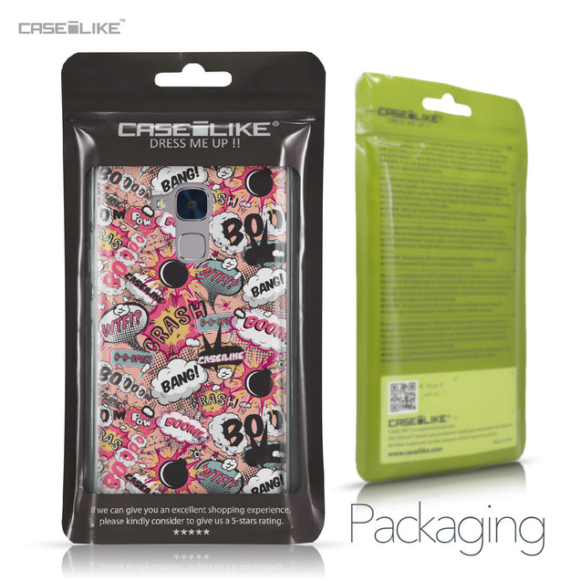 Huawei Honor 5C / Honor 7 Lite / GT3 case Comic Captions Pink 2912 Retail Packaging | CASEiLIKE.com