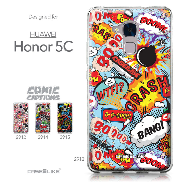 Huawei Honor 5C / Honor 7 Lite / GT3 case Comic Captions Blue 2913 Collection | CASEiLIKE.com