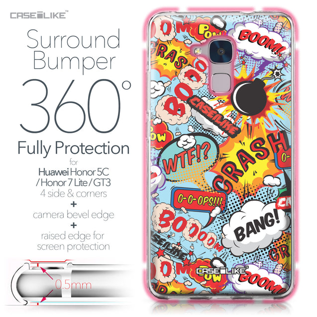 Huawei Honor 5C / Honor 7 Lite / GT3 case Comic Captions Blue 2913 Bumper Case Protection | CASEiLIKE.com