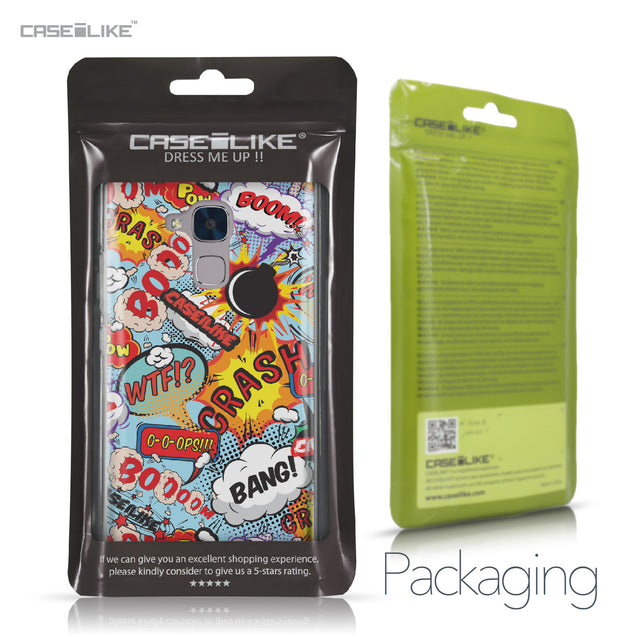 Huawei Honor 5C / Honor 7 Lite / GT3 case Comic Captions Blue 2913 Retail Packaging | CASEiLIKE.com