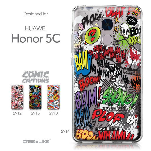 Huawei Honor 5C / Honor 7 Lite / GT3 case Comic Captions 2914 Collection | CASEiLIKE.com